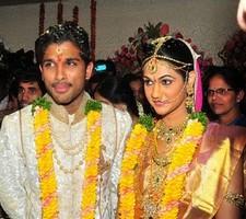 Telugu Actor allu arjun marriage stills