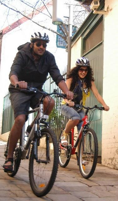 Prabhas,Tapsee  Cycle race photos in Mr perfect