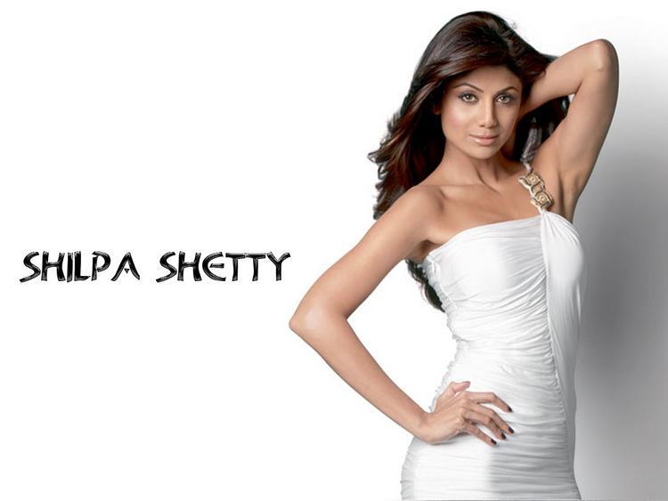 Shilpa Shetty in white tight dress wallpaper