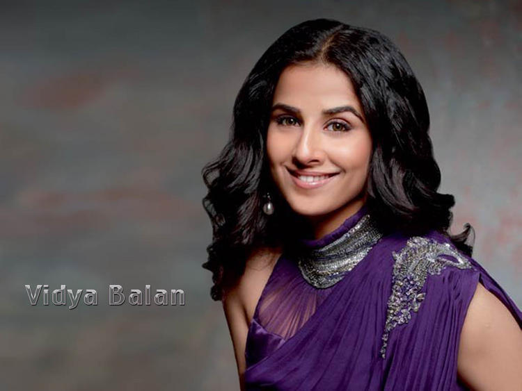 Vidya Balan in purple Dress