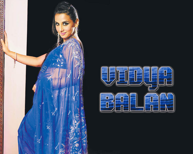 Vidya Balan in Blue Saree