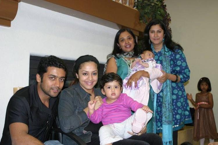 Surya,Jyothika and diya party photos