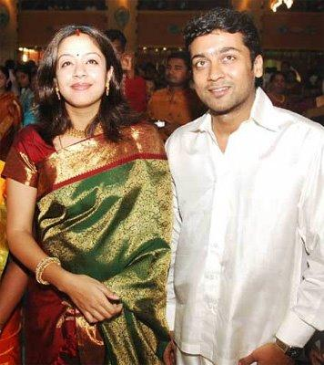Actor surya and Jyothika cute images