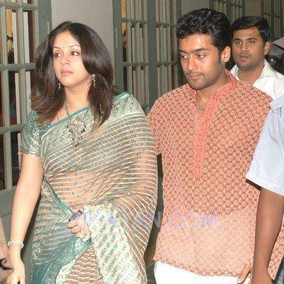 Surya,Jyothika saree photos