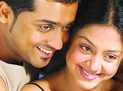 Tamil actor surya and actress Jyothika cute hot pics
