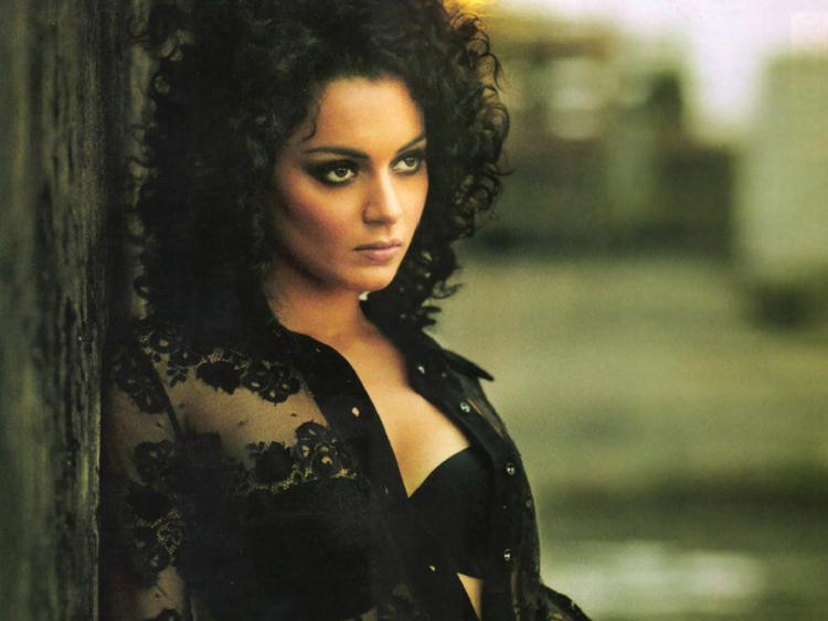Kangana Ranaut with angry look