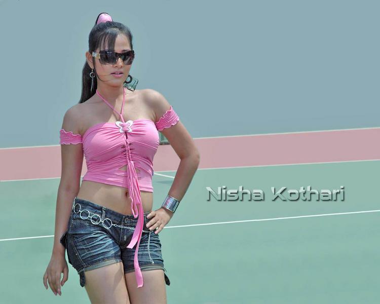 Nisha Kothari  pink sexy dress wallpaper