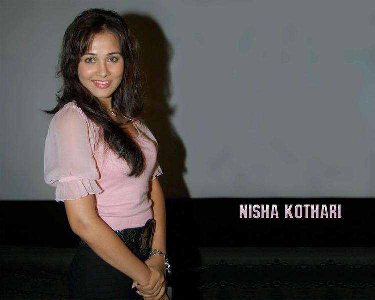 Nisha Kothari pink hot wallpaper
