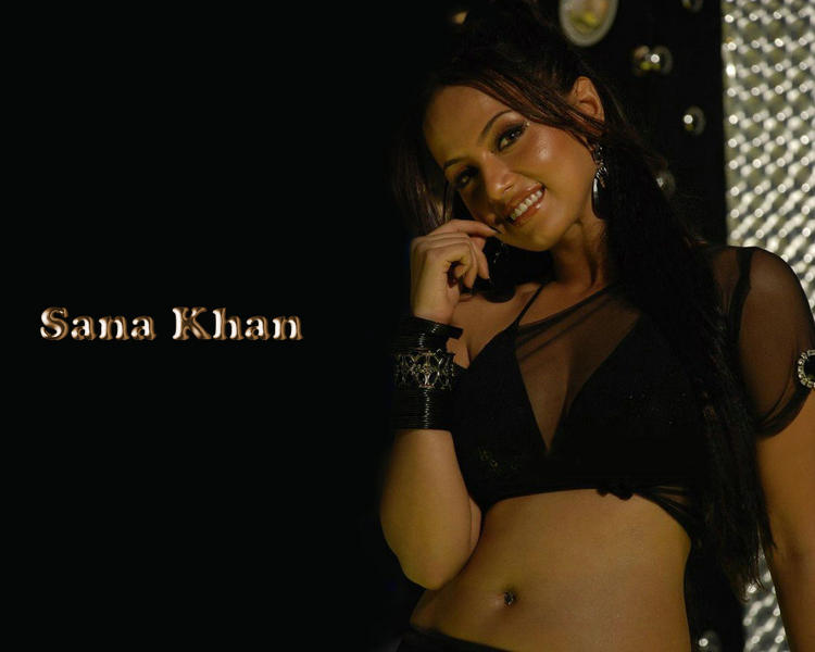 Sana Khan Sexy Cleavages show wallpaper