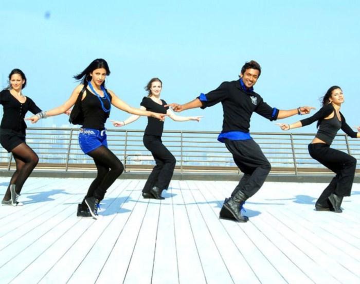 Yelam arivu movie song surya and shruti haasan dance stills