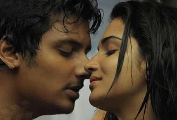Singam Puli movie film jeeva and ramya kiss still
