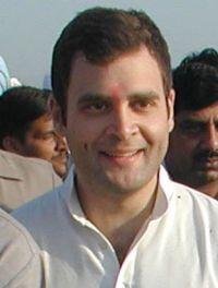 Congress leader Rahul Gandhi smilling face