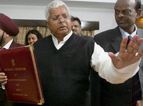 Indian Railway Minister Lalu Prasad Yadav