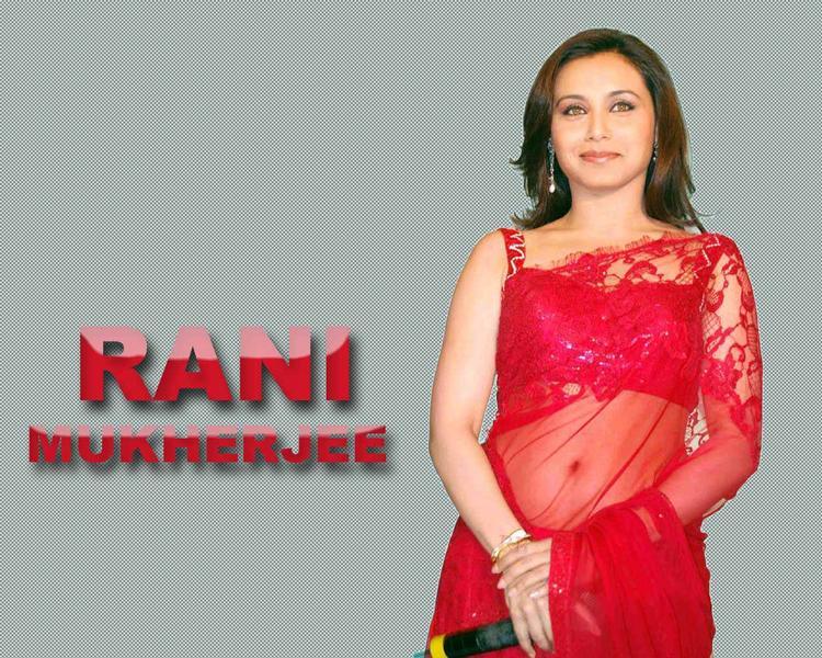 Rani Mukherjee in red saree wallpaper