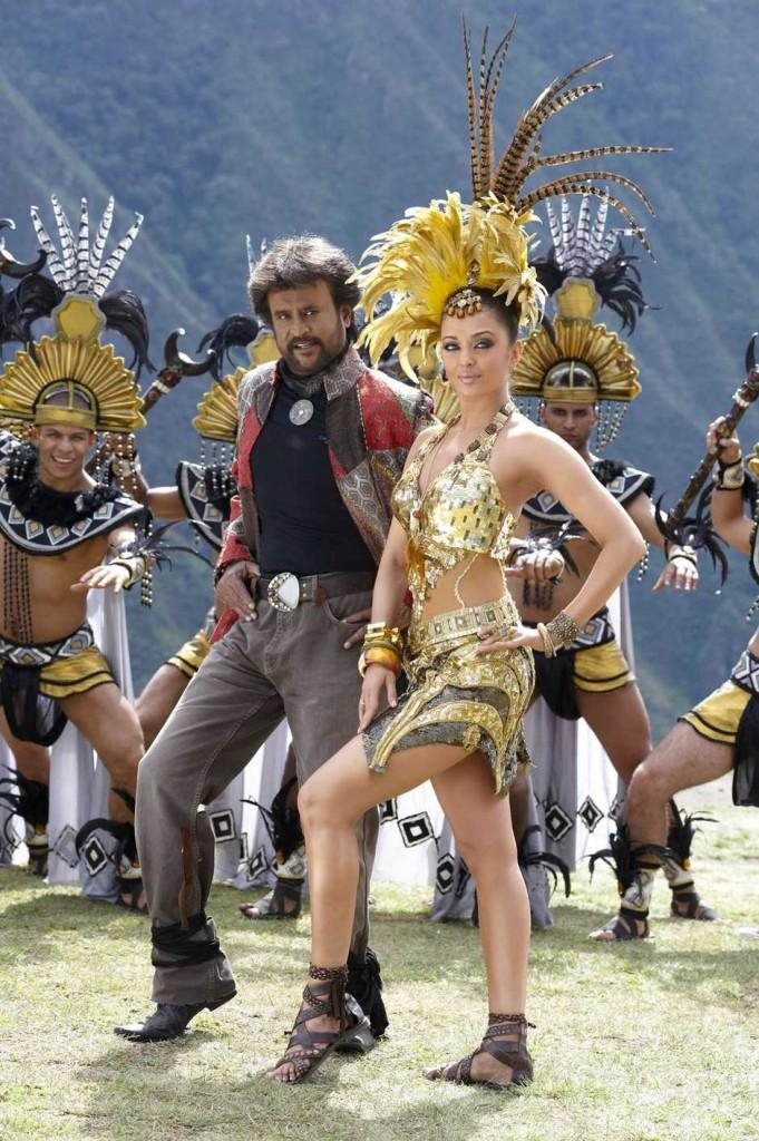 Rajinikanth and Aishwarya rai Robot Movie song stills