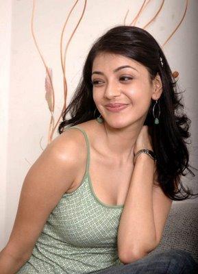 Kajal agarwal latest hot pics with greenish color dress stils