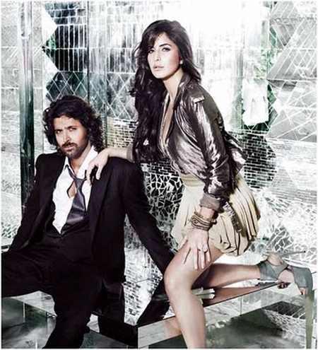 Hrithik Roshan and katrina kaif sexy pic  in wallpaper