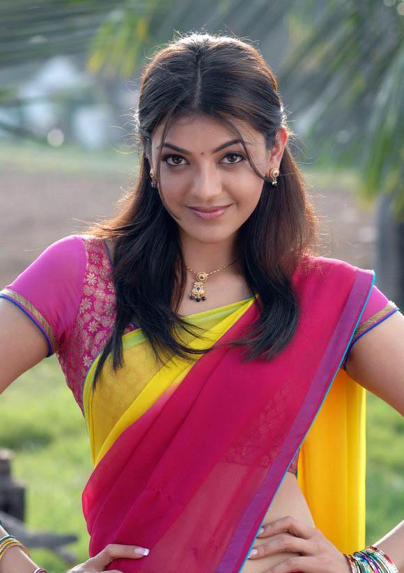 kajal agarwal red color dress stills in mr perfect