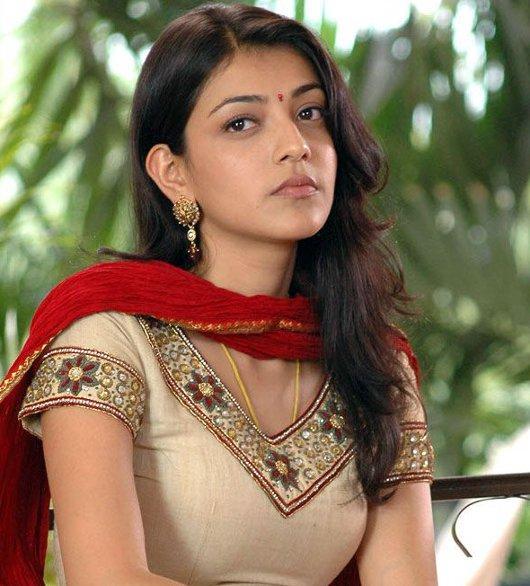 Kajal agarwal latest hot pics with brown color dress stils