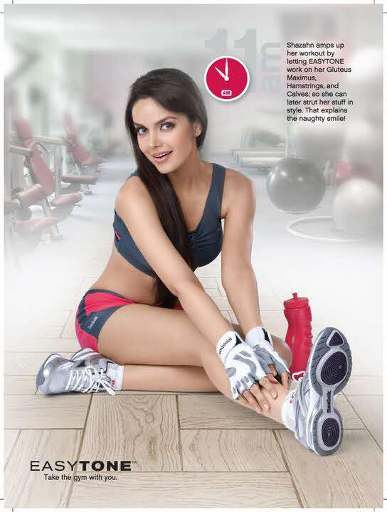 Shazahn Padamsee photoshoot for reebok