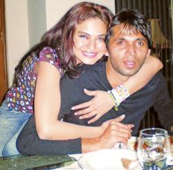 veena malik with muhammad asif sweet pics