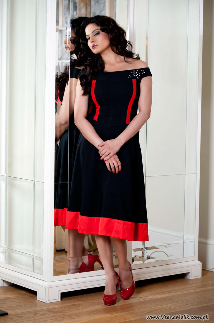 Veena Malik in Black Dress
