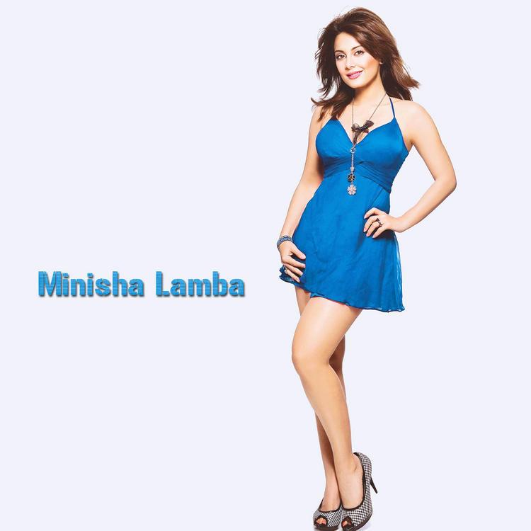 Minissha Lamba in hot blue dress wallpaper