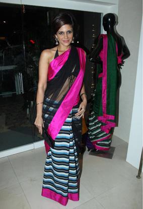 Mandira Bedi looks hot in saree