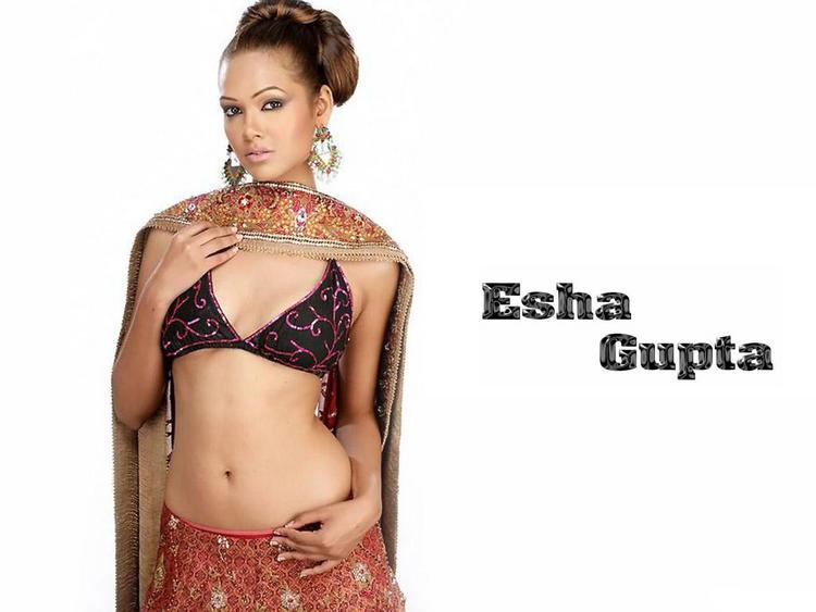 Esha Gupta sexy navel show