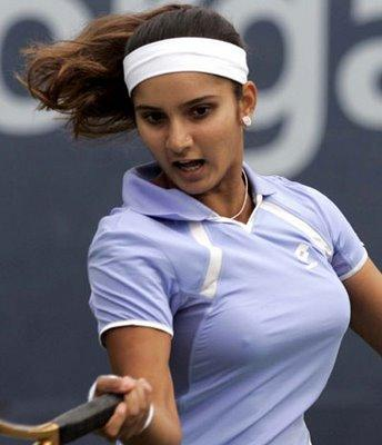 sania mirza hot stills with bink blue drees