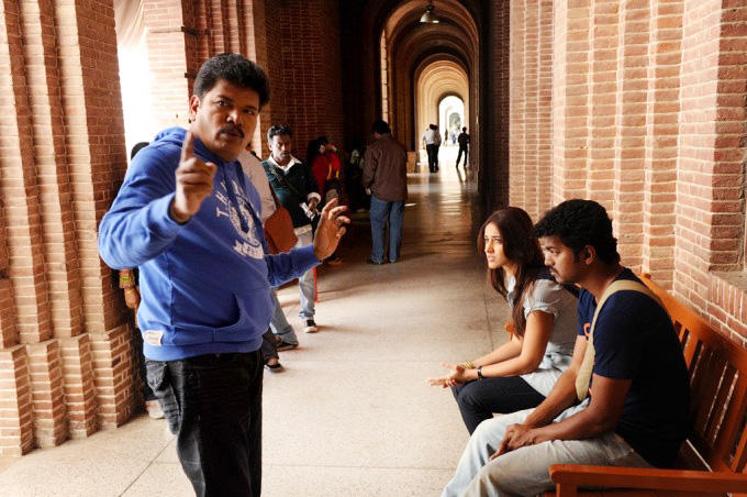 Shankar vijay nanban movie shooting parts stills