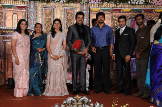 Actor karthi ranjani reception vijay photos