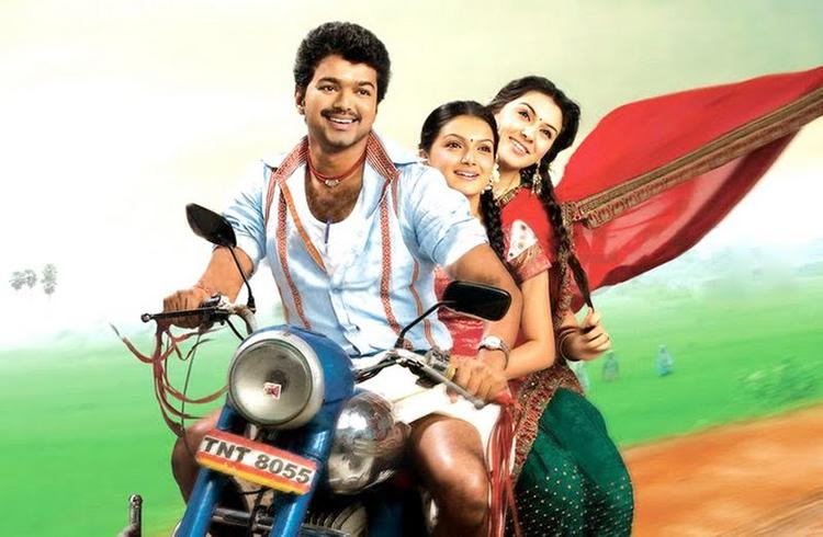 Velayutham bike stills of Vijay