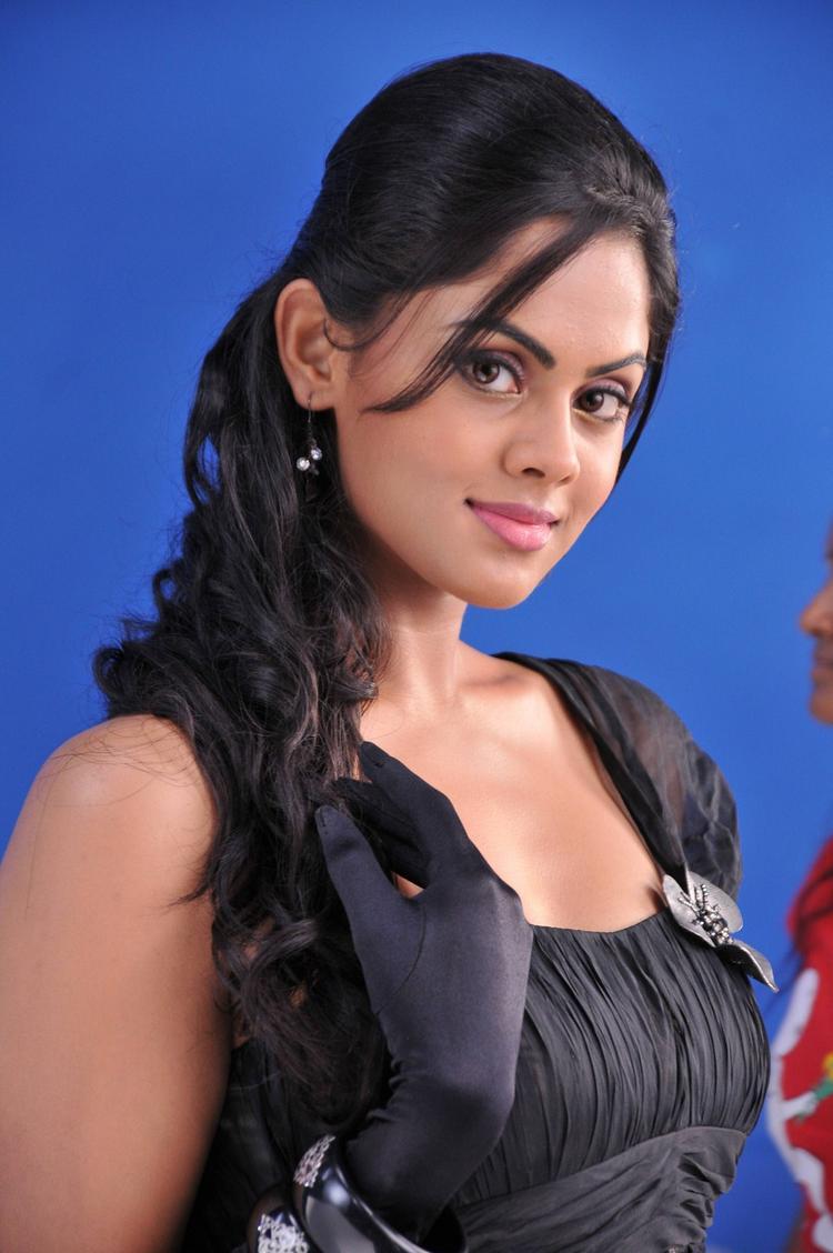 karthika Nair black color  mini dress photoshoot