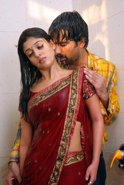 Nayanthara hot Scenes in red color dress