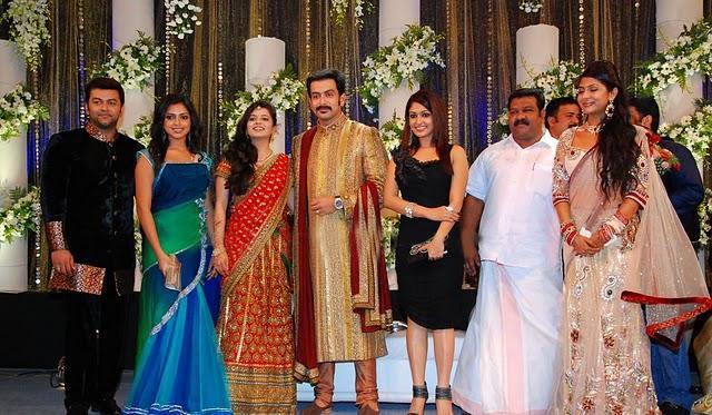 Prithviraj and supriya menon reception stills