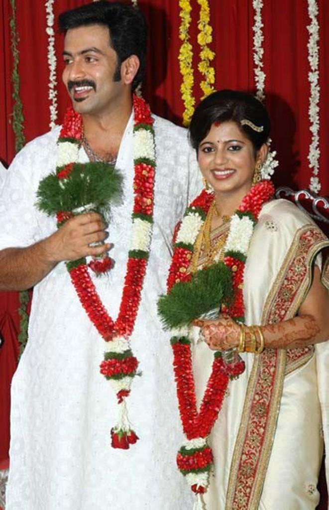 Prithviraj and supriya menon marriage photos