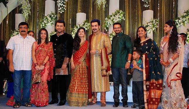Prithviraj and supriya menon reception photos