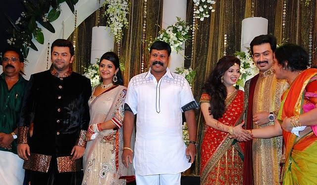 Prithviraj and supriya menon reception pics