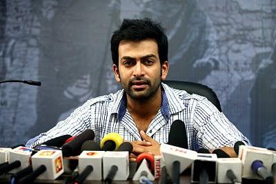 Prithviraj press meet stills  in Arjunan Sakshi Movie
