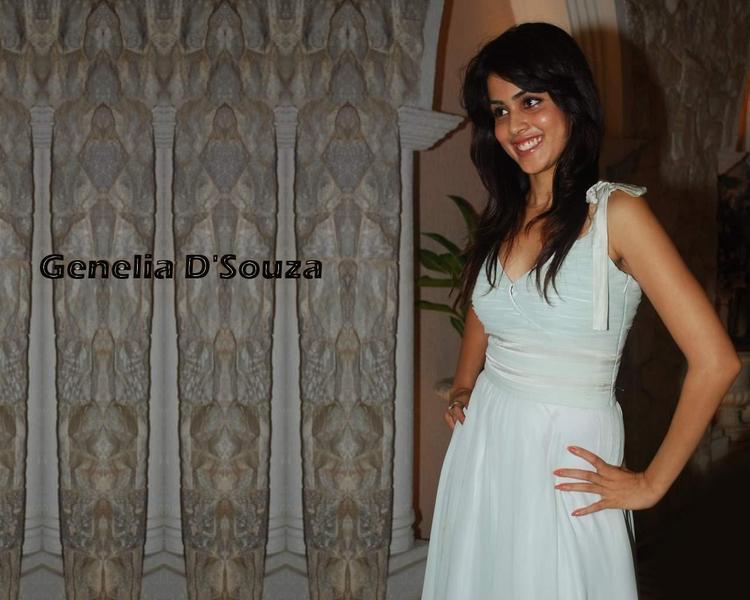 Genelia D'Souza with sweet look