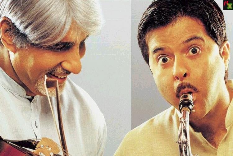 Amitabh and Anil Kapoor in Armaan cute stills