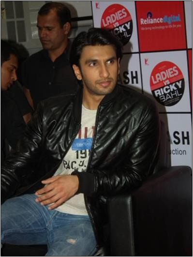 Ranveer Singh in Black Jacket