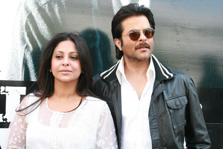 Anil Kapoor and shefali shah in blackwhite