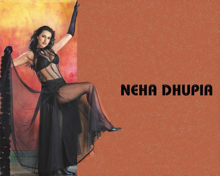 Neha Dhupia in bikini hot wallpaper