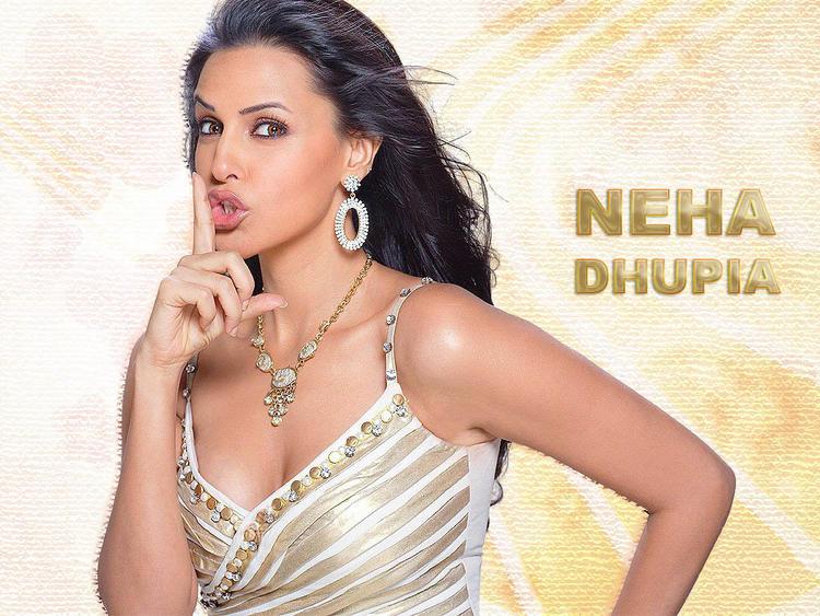 Neha Dhupia cute hot wallpaper
