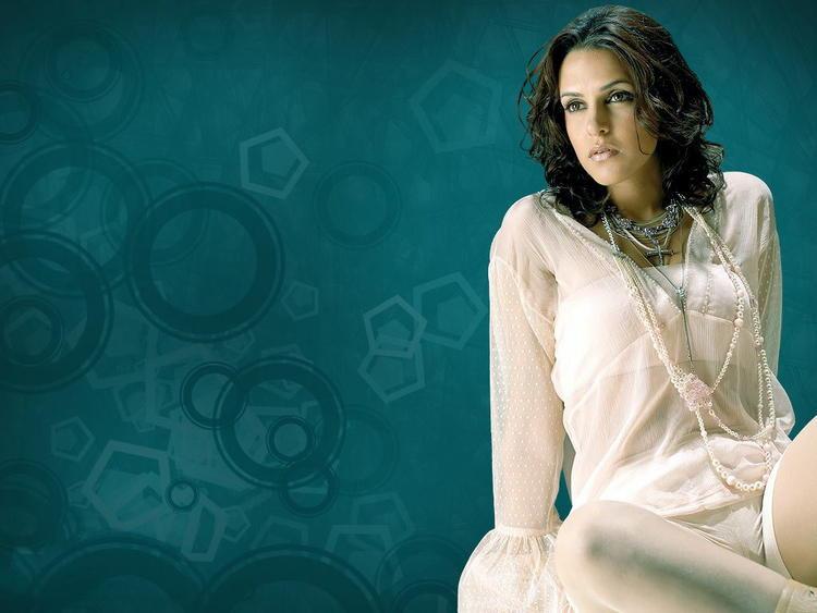 Neha Dhupia hot white dress wallpaper