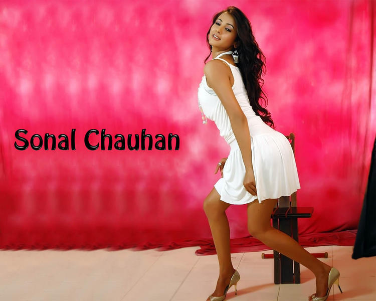 Sonal Chauhan sexy pic in white dress