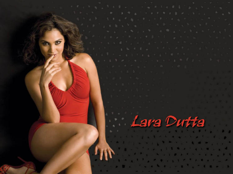 Lara Dutta in red hot bikini dress