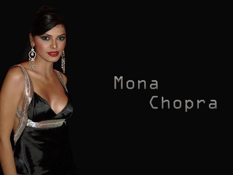 Mona Chopra hot boob show wallpaper